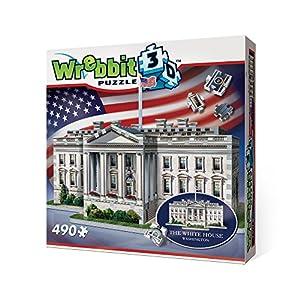 Wrebbit W3d 1007 Puzzle 3d White House 490 Pezzi