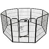 32''- 8 Panel Heavy Duty Pet Dog Cat Playpen Exercise Fence Black