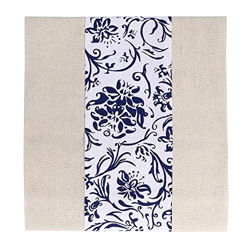 (hullonguuo Table Runner, Cotton Linen Table Runner Long Tablecloth Tea Ceremony Home Decor (Orchid))
