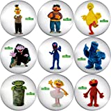 Sesame Street Buttons Badges 9 Pcs Set #1