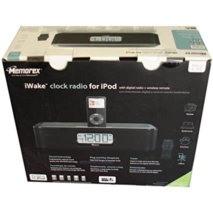 amazon com memorex mi4004blk iwake clock radio for ipod black rh amazon com