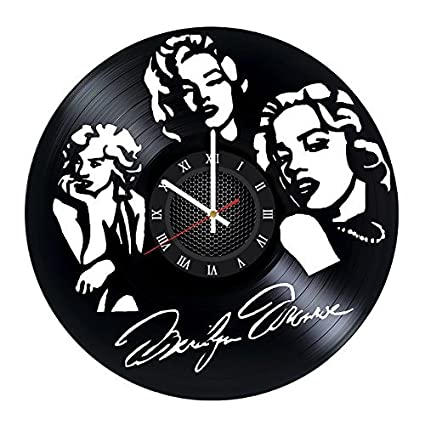 Amazoncom Marilyn Monroe Vinyl Record Wall Clock Gift For Boys And