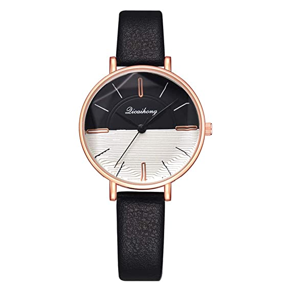 Iuhan Wrist Watch for Women Girls Holiday Deals, Fashion Quartz Ladies Convex Glass Leather Watches
