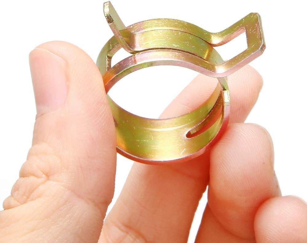 6//7//8//9//10//11//12//13//14//15mm TXIN 100 Pieces Hose Clamp Pipe Clips Tube Clamps Vacuum Fuel Hoses Line Spring Band Type Clamps Assortment