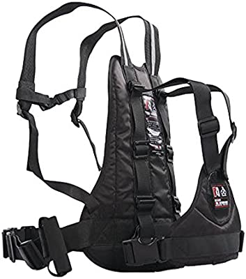 A.B Crew Adjustable Childrens Motorcycle Safety Harness with Handles Comfortable Vest Kids Safety Seat Strap (Black)