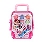 Keepwin Play Makeup Set for Little Girls Non-toxic Non-toxic Portable Washable Cosmetic and Makeup Kit Palette Set Pretend Play Toy For Kids (Pink | A)