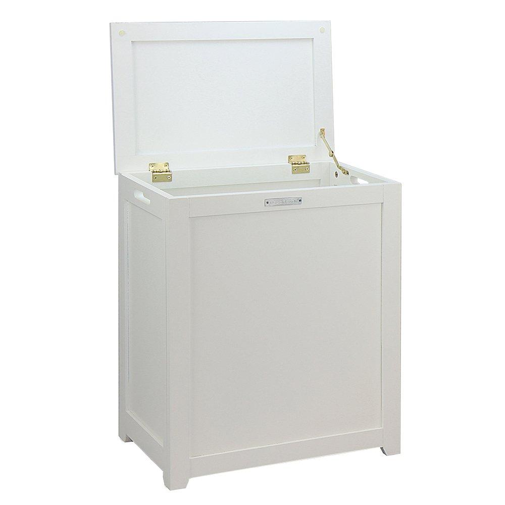 White Laundry Hamper, Oceanstar Storage