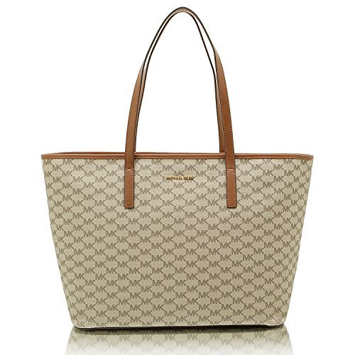 Studio Heritage Collection Emry Large Top Zip Tote natural/luggage (Signature Large Tote)