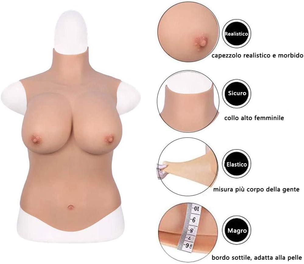 MDFL Pecho Falso del silicón, mastectomía de Crossdresser usable ...