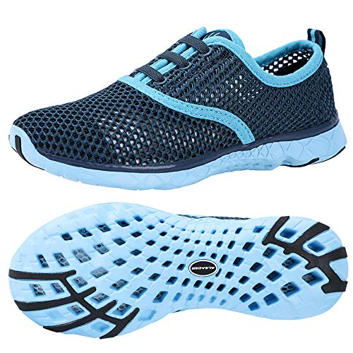 Aleader Women's Quick Drying Aqua Water Shoes, Blue 9 B(M) US in USA