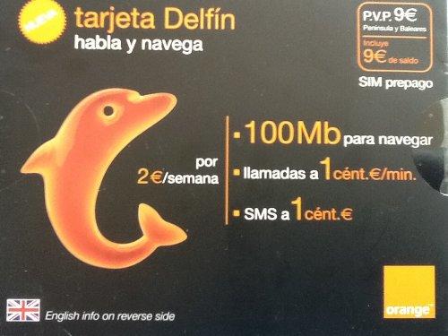 Orange Delfín - Pack tarjeta SIM prepago, nuevo habla y ...