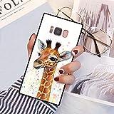 Samsung Galaxy S8 Plus Squared Case Heavy Duty Protection Shock Absorption Slim Soft TPU Edge and Hard PC Case Cover for Samsung Galaxy S8 Plus Cute Young Giraffe Design