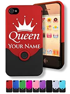 Engraved iPhone 4/4S Case/Cover - QUEEN CROWN - Personalized for FREE (Click the CONTACT SELLER button after purchase and send a message with your case color and engraving request)