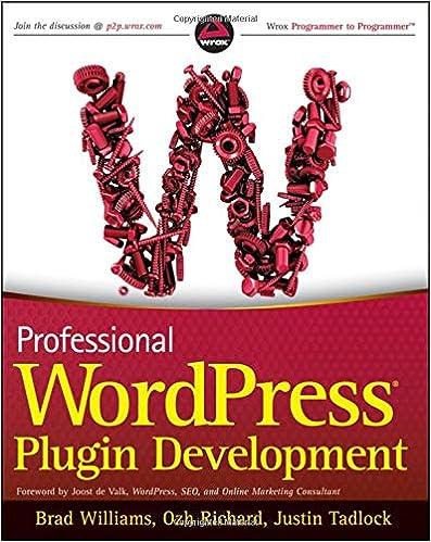Professional WordPress Plugin Development: Brad Williams