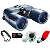 Bushnell 137570 Marine Blue Porro 7x50mm with Digital Compass Binocular Bundle