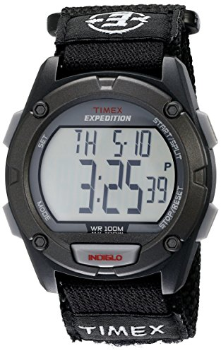 Timex Men's T49949 Expedition Digital CAT Black Fast Wrap Velcro Strap Watch