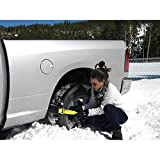 Car Snow Chain Non-slip Antiskid Anti-skidding in Winter,The ''Get Unstuck'' Traction Solution Pit Swamp for Trucks SUV Sedan Hatchback (6 PCS)