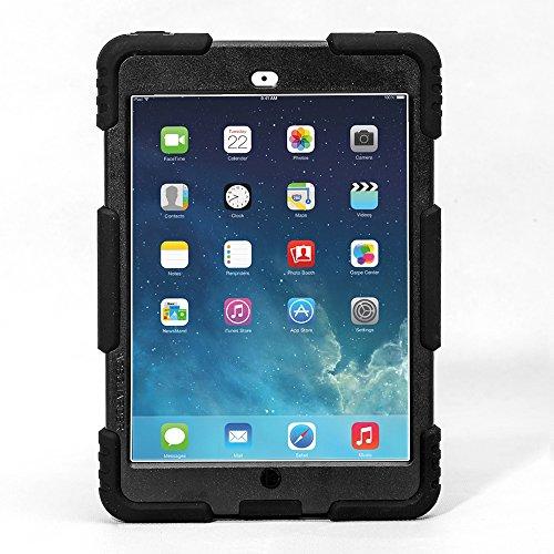 iPad Mini 1 2 3 Case ACEGUARDER Full Body Protective Premium Soft Silicone Cover Proof Case for iPad Mini 1 2 3 (Black) (Ipad 3 Tuff Case)