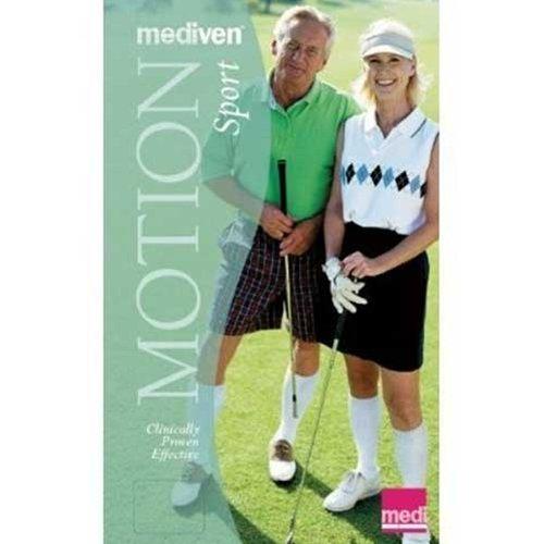 Medi Motion Sport 20-30 Mmhg Gesloten Teen Kalf Hoge Atletische Compressie Sokken In Wit Wit Klein Gesloten Teen Wit