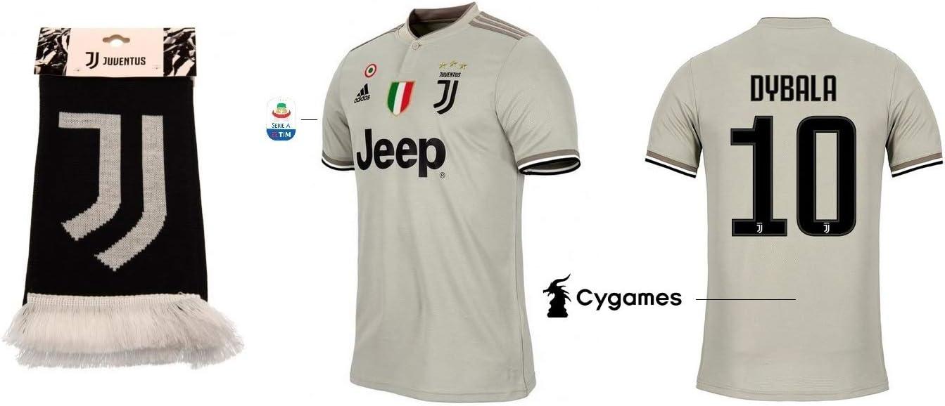 Juventus Turin 2018-2019 Away Serie A Dybala 10 - Camiseta de ...