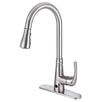 BOHARERS Motion Sensor Touchless Kitchen Faucet
