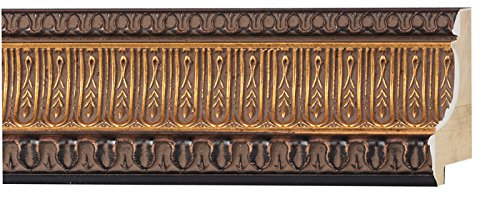 Picture Frame Moulding (Wood) 18ft bundle - Ornate Antique Gold Finish - 3.25'' width - 1 1/16'' rabbet depth by CustomPictureFrames