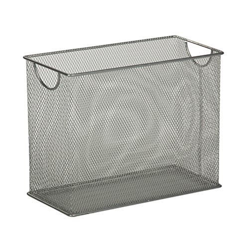 Honey-Can-Do OFC-03303 Table-top Hanging File Organizer, 5.5 x 12.5 x 9.8, Silver by Honey-Can-Do