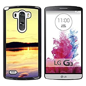 LECELL -- Funda protectora / Cubierta / Piel For LG G3 D855 D850 D851 -- Sunset Beautiful Nature 109 --