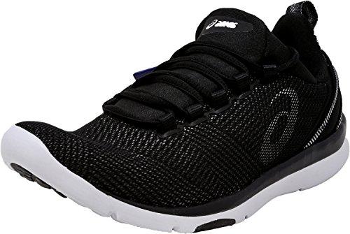 ASICS Women's Gel-Fit Sana 3 Cross-Trainer Shoe, Black/White/Silver, 5.5 M US by ASICS