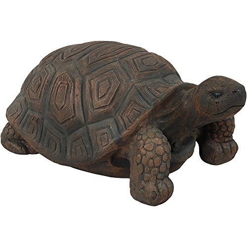 Sunnydaze Tanya The Tortoise Garden Statue, Large Indoor/Outdoor Yard Decoration, 20 Inch Long ()