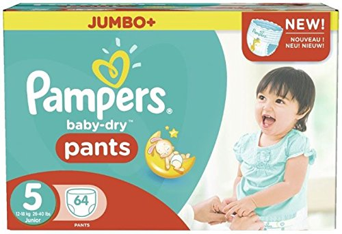 Pampers Baby-Dry Pants Size 5 Jumbo Box 64 Nappies 1890264031