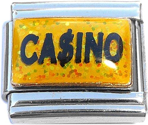Casino Dollar Sign Italian Charm