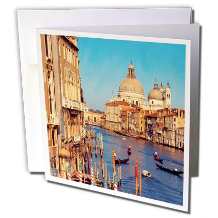 - 3dRose Venice Italy - Greeting Cards, 6 x 6 inches, set of 6 (gc_1139_1)
