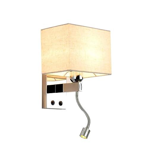 LEDMOMO Modern Led Wall Lamp Sconce Decorative Light Flexible Sconce Lamps for Bedroom Living Room White