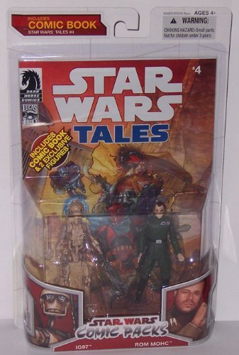 Star Wars 2009 Comic Book Action Figure 2Pack Dark Horse Star Wars Tales #4 IG97 & Rom Mohc