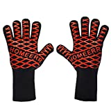 Homeerr P1638067 BBQ Gloves Heat Resistant Gloves BBQ Tools Holiday Present Mum Dad Outdoor Cooking Gloves-14 inch Long Forearm (1 Pair)