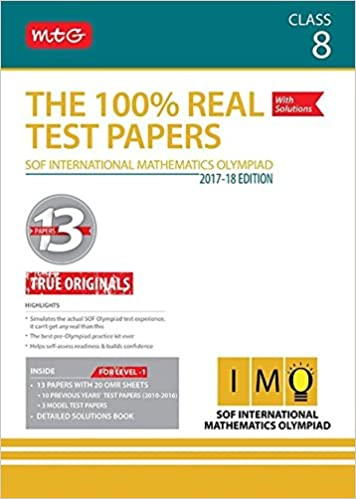 Buy The 100% Real Test Papers (IMO) Class 8 Book Online at Low