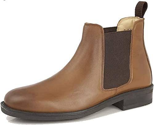 Roamer Mens Leather Chelsea Boots Cushioned Leather Lining