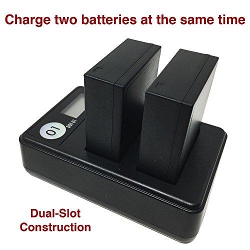 DOT-01 4X Brand Fujifilm X-H1 Batteries Fujifilm X-H1 Mirrorless Fujifilm X-H1 Battery Charger Bundle Fujifilm NPW126 NP-W126