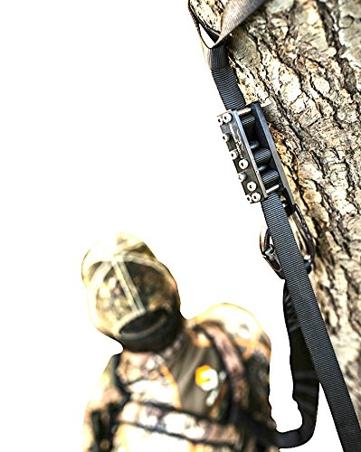 Treestand System (Best HUNTING FALL ARREST SYSTEM. Hunting Safety Harness Adapter. Wingman Tree Stand Safety Harness device for Hunting & Bow hunting harness. (Black Out))