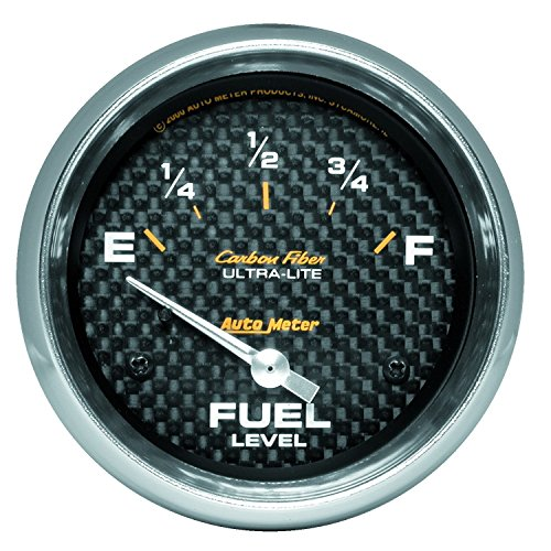 Auto Meter 4816 Carbon Fiber Electric Fuel Level Gauge
