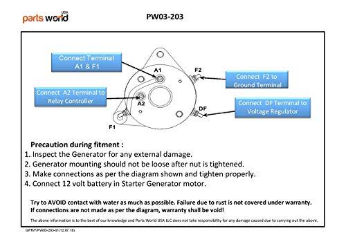 partsworldUSA 12V Starter Generator for EZ-GO TXT Medalist Pre-Medalist on