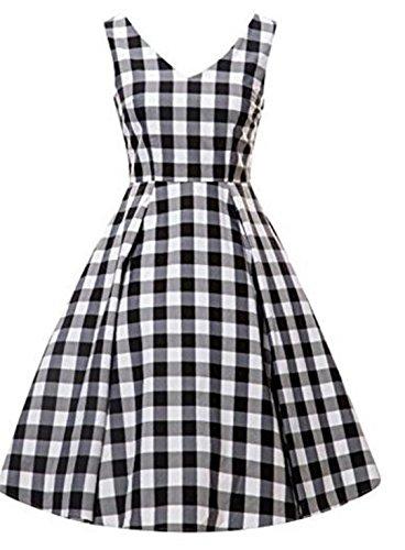YOGLY Damen Kleide Modisch VintageKleid Abendkleider Cocktailkleider  Brautkleid Cocktailkleid Ballkleid Minikleid Sommerkleid Partykleider  Schwarz rT37Ow 44db4501cd