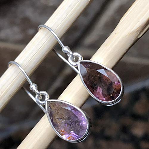 (Natural Cacoxenite 925 Sterling Silver Healing Stone Super/7 Stone Earrings 25mm Long)