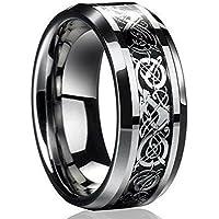 ERAWAN New Silver Celtic Dragon Titanium Stainless Steel Men's Wedding Band Rings EW sakcharn (Size 13)