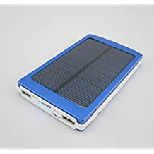 X-Strong® 10000mAh 5V 2A Solar Panel Charger Power Bank Portable Dual USB Charger Backup External Battery Pack Charger for iPhone 6 5S 5C 5 4S 4 iPods iPad 5 4 3 2 Mini Samsung Galaxy S5 S4 S3 S2 S1 Note 3 Note 2 Nexus 7 Sony Xperia Z2 L39H (Blue)