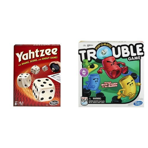 Yahtzee Classic and Trouble Game Bundle
