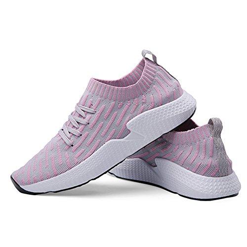 Basse Running Uomo Ginnastica Outdoor Uomo Adulto Sarpe Sport Donna Unisex Rosa Sneakers Basket da Sportive Fexkean Donna 1YwpXqO