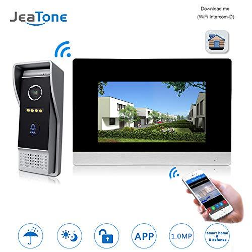 Intercom Door Speaker - 7'' WiFi IP Video Door Phone Intercom Wired Door Bell Speaker Access Control System Touch Screen Motion Detection