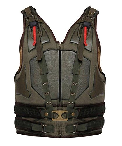 Bane Tom Hardy The Dark Knight Rises Green Military Leather Vest